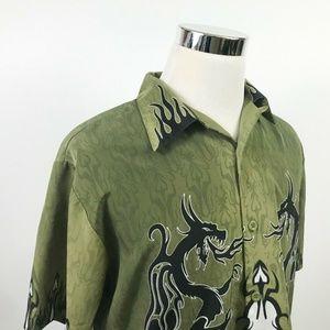Sapphire Lounge Mens Medium Rockabilly Shirt